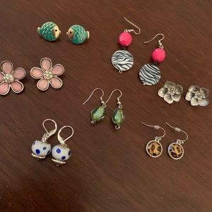 Jewelry - 7 pairs of preppy earrings